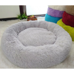 DOG CAT CALMING BED COMFY SHAG FLUFFY WARM BED